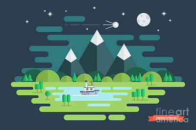 Designs Similar to Summer Night Landscape. Nature