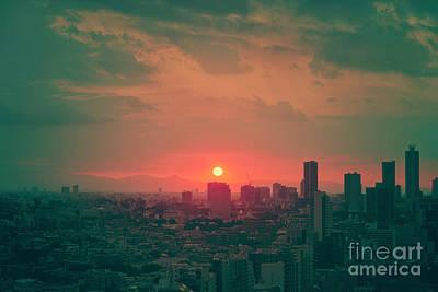 City Sunset Art Prints