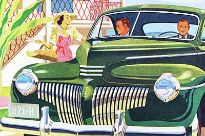 Designs Similar to Two Men In Desoto Automobile