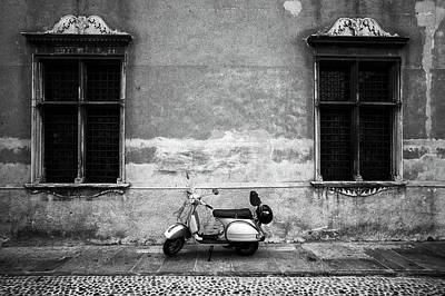 Designs Similar to Vespa Piaggio. Black And White