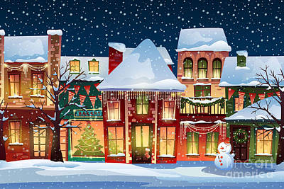 Snowman Digital Art