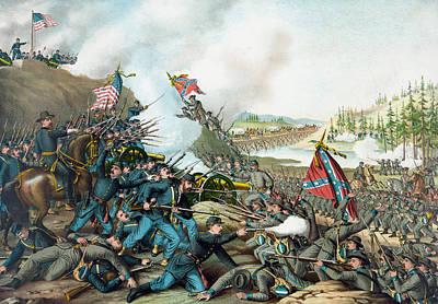 Battle Of Franklin Mixed Media Prints