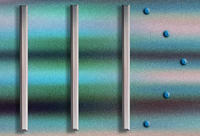 Silver Turquoise Digital Art
