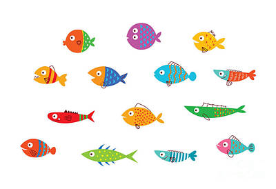 Designs Similar to Cute Fish Vector Collection