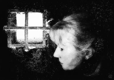 Light On Womans Face. Selfportrait Prints