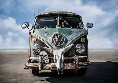 Rusted Cars Digital Art Prints