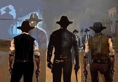 Gunfighters Digital Art Original Artwork