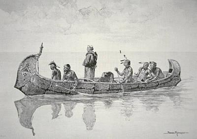 Indian Canoe Drawings