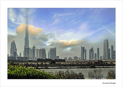 Dubai Skyline Photographs Original Artwork