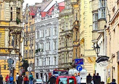 Prague Czech Republic Digital Art Original Artwork