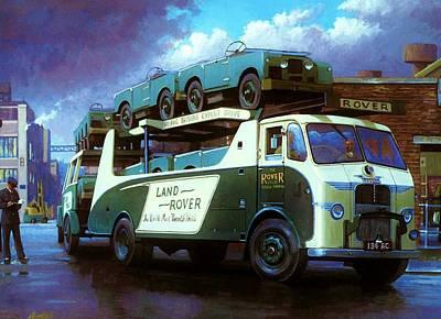 1940s Trucks Paintings