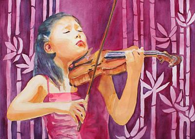 Playing Music Paintings Original Artwork