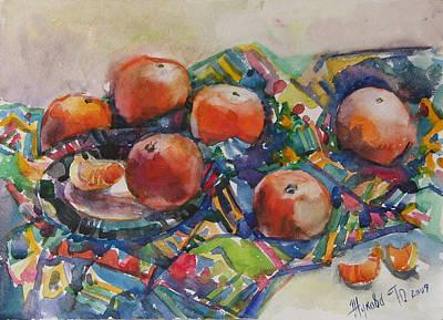 Still Life With Tangerines Original Artwork