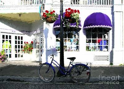 Purple Awnings Prints