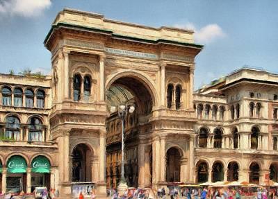Italian Shopping Digital Art Prints