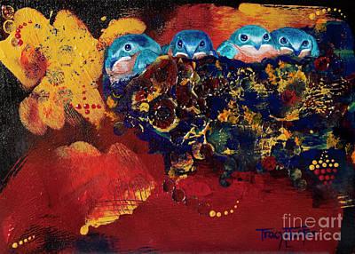 Baby Swallows Original Artwork