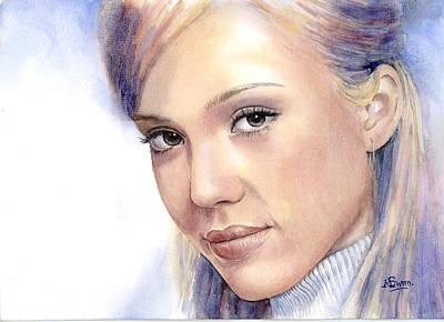 Jessica Alba Paintings Prints