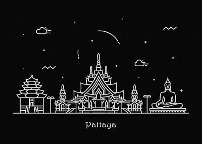 Designs Similar to Pattaya Skyline Travel Poster