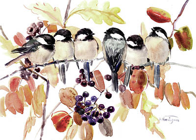 Designs Similar to Chickadees In The Fall