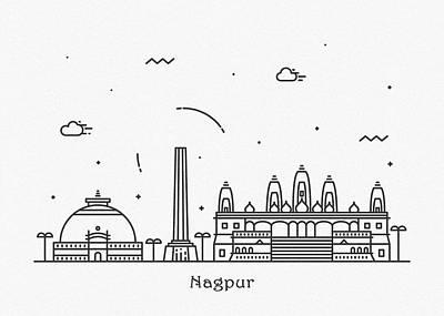 Designs Similar to Nagpur Cityscape Travel Poster