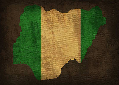 Designs Similar to Nigeria Country Flag Map