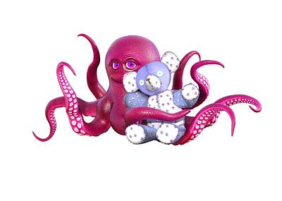 Designs Similar to Octopus Pink With Bear