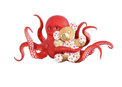 Designs Similar to Octopus Red With Bear