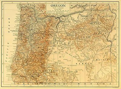 Designs Similar to Antique Map Of Oregon 1911
