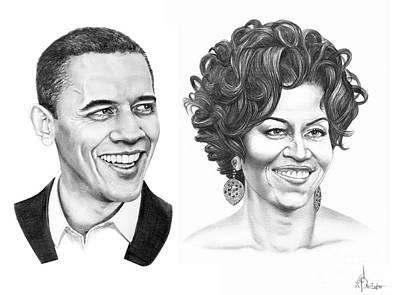 Barrack Obama Drawings Prints