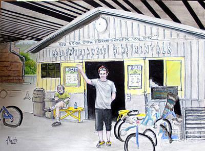 Bicycle Mixed Media Original Artwork