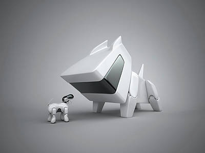 Designs Similar to Large And Small Robotic Dog