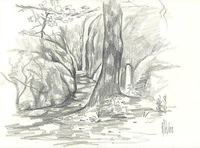 Passageway At Elephant Rocks Prints