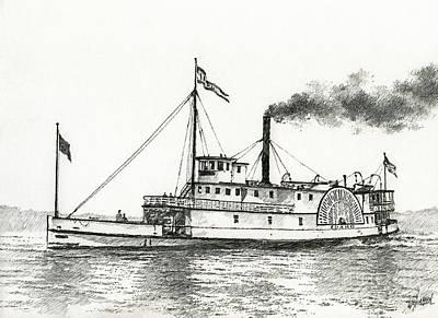Columbia River Drawings Original Artwork