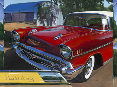 Red Chevy Art