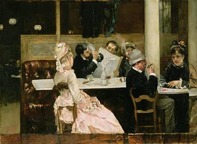 Parisian Cafe Paintings