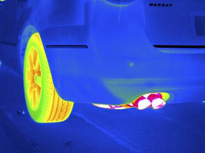 Designs Similar to Car Exhaust, Thermogram