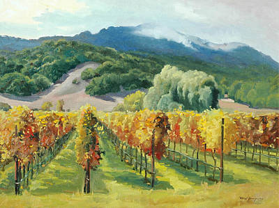 California Hills And Vines Paintings