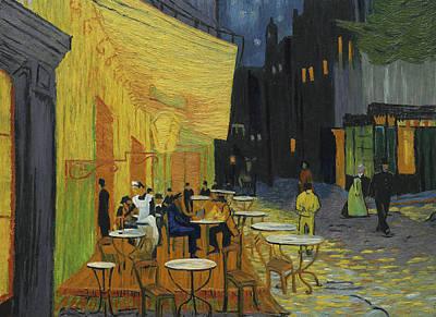 Cafes At Night Art