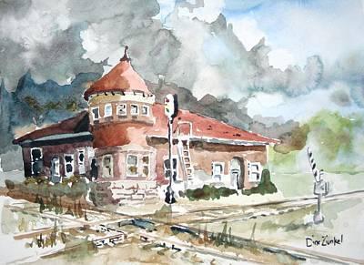 Richard Zunkel: Abandoned Train Station Art