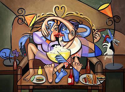 Kissing Digital Art Original Artwork