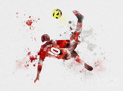 Wayne Rooney Mixed Media