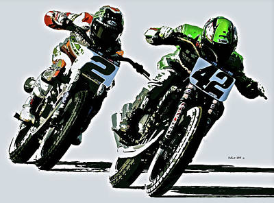 Designs Similar to Motorcycle Flat Track Racers