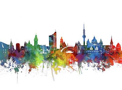 Designs Similar to Leipzig Skyline Watercolor 1