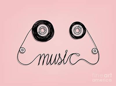 Designs Similar to Cassette Tape Music Graphic