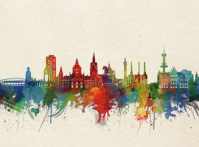 Designs Similar to Hannover Skyline Watercolor