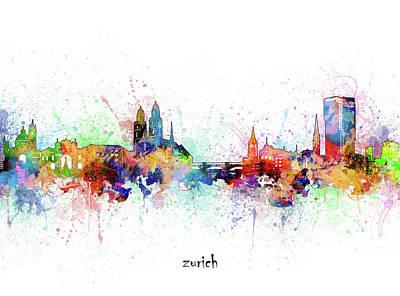 Designs Similar to Zurich Skyline Artistic