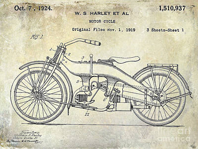 Harley Davidson Patent Posters