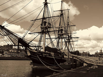 Ship In Sepia Prints