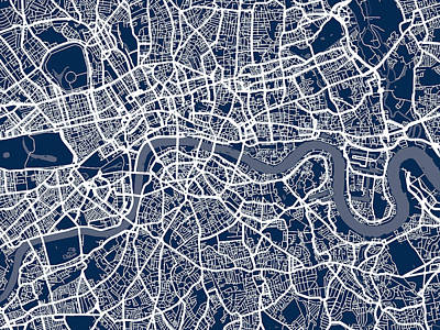 Designs Similar to London England Street Map