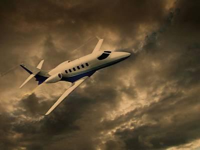 Passenger Plane Mixed Media Prints